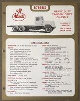 1972 Mack R785RS original Australian sales brochure