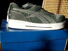 Reebok men's 9W woman's 11W Live Roller Oxford work shoe sneaker Grey/silver NIB