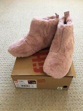 Nuevo Y En Caja Fit flop Rosa Peludo Botas Botines Zapatilla Size UK 5 EU38