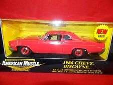 Ertl American Muscle 1:18 1966 Chevy Biscayne Red  #36673