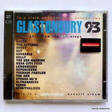 Glastonbury 93 Live [2-CD] *NEW UK 1993 Suede The God Machine Mega City Four Orb