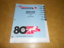 1980 2hp Johnson Evinrude Outboard Factory Repair & Service Manual 2 hp