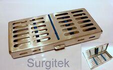 Sterilizzazione Cassetta Con Divisori Vassoio Hold 7 Dentali Strumenti CE