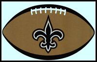 NEW ORLEANS SAINTS OVAL FOOTBALL NFL DECAL STICKER TEAM LOGO~BOGO 25% OFF