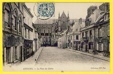 cpa 02 - SOISSONS (Aisne) La Place du CLOITRE Commerce Maitre Tailleur GRIESMER