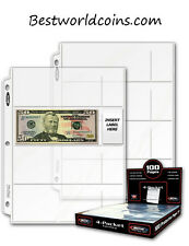 Premium 4 Pocket Currency Album Pages (lot of 10)
