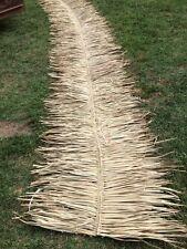 """48""""x 20 ft Comm Grade Palm Grass Thatch Ridge Roof Cap 4 Tiki Bar"""