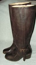 FRYE Women's Melissa Knotted Tall Boot 10 B   MSRP $398 Color:Redwood