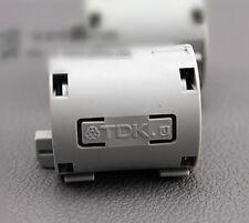 2x TDK Gray 13mm Cable Clamp Clip RFI/EMI/EMC Noise Filters Ferrite Core Case