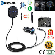 Car Bluetooth Handfree Audio Music Receiver Stereo 3.5mm AUX Adapter USB Charger
