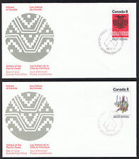 Set of 2 Canada First Day Covers - Indians of Canada 1974 Stamps sg735 & sg736