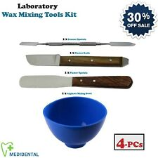 New Dentist Mixing Tools Kit Laboratory Alginate Waxing Bowl Plaster Spatulas CE