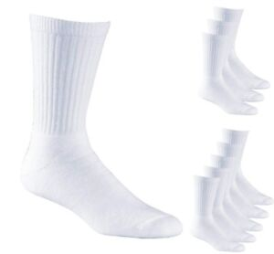 Multipacks Mens Socks Sports White Cotton Ribbed UK sizes 5.5 - 11 Aurellie