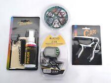 GUITAR GIFT BARGAIN - Guitar Kit - Capo - Tuner - Pick Pack - Polish