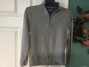 Boys Vineyard Vines Gray Pullover Size Large 16 (CON66)