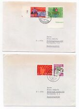 1974 SWITZERLAND - 2 x Covers ZURICH & ADLISWIL To RECKLINGHAUSEN GERMANY Gutter