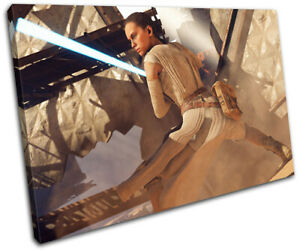 Star Wars Battlefront Rey Gaming SINGLE CANVAS WALL ART Picture Print