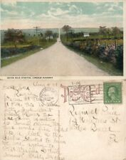 SEVEN MILES STRETCH LINCOLN HIGHWAY PA ANTIQUE 1921 POSTCARD