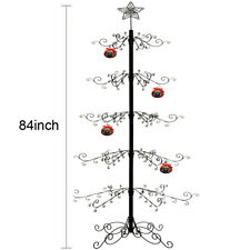 """Christmas Ornaments Tree Display Metal Wrought Iron Stand 174 Hook 84""""H"""
