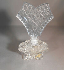 Vintage Cut Glass Morlee Creation  Perfume Bottle with a Blue Stopper.