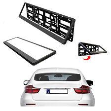 Portamatrículas efecto carbono para Audi Mini a presión sin taladrar matrícula