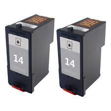 2 Pack for Lexmark 14 Black Ink Cartridge 18C2090 for Z2300 Z2320 X2600 Printer