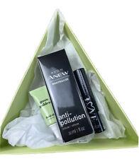 Avon A Box Freah Face 3pc Set Gift Box Green Goddess Anew Anti Pollution Mascara