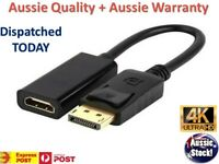 Display Port Display Port DP to HDMI Cable Male to Female 4K AND Full HD Adapter