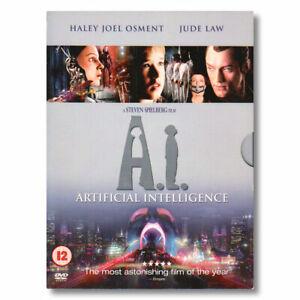 AI Artificial Intelligence DVD Movie Sci-Fi Space Robots Steven Spielberg R2