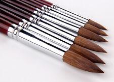 Hot 6pcs Round Paint Brush Kolinsky Sable Hair Artist's Quality Art Paint Brush