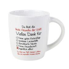 """Kaffee Tasse Becher /""""Beste Freundin der Welt/"""" Geschenk Weihnachten Büro Kollege"""