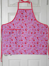 New Adult Bib Kitchen Apron, Adjustable Neck Strap - Valentine's Gift Idea!