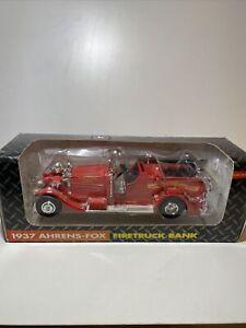 Ertl 1937 Ahrens-Fox Firetruck Bank John Deere Company 1/30 🚒🔥