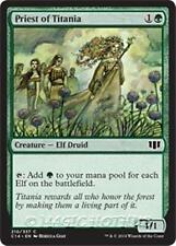 PRIEST OF TITANIA Commander 2014 MTG Green Creature — Elf Druid Com