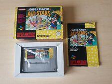 SNES SUPER NINTENDO BOXED CIB - SUPER MARIO ALL STARS ( SNSP-4M-FAH ) PAL