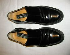 AVVENTURA Black Leather Dress Loafers Size 9 ~SPAIN~