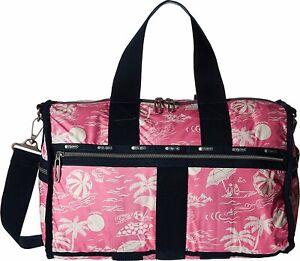 LeSportsac Women's Essential Weekender Tote Duffle Bag in Hawaiian Getaway Pink