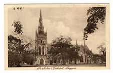 St Andrew's Cathedral - Singapore Photo Postcard c1920s
