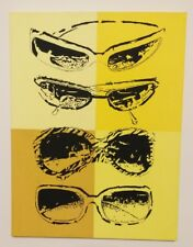 "original POP ART ""shades on color yellow"" by robfame signed hand painted 18""x24"""