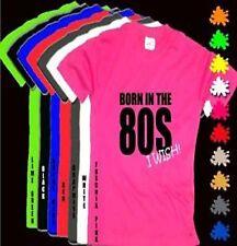 BORN IN THE 80S I WISH! Pink T Shirt Black Print S-XXL