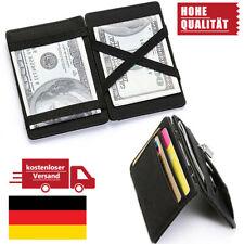 Noir Magische Brieftasche Mini Geldbörse Portemonnaie Leder Magic Wallet Slim