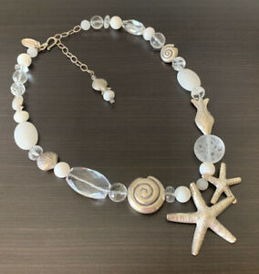 Kim Yubeta Handcrafted Starfish Shell Nautical Ocean Sterling Silver Necklace