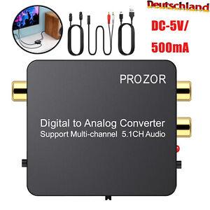 Digital Audio Konverter Wandler unterstützt Mehrkanal-5.1CH-Audio DTS-Decoder DE