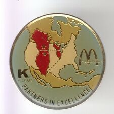 RARE PINS PIN'S .. MC DONALD'S RESTAURANT KARMA PARTNERS USA CANADA CARTE MAP~17