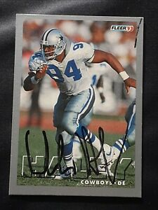 CHARLES HALEY DALLAS COWBOYS HOF DEFENSIVE END AUTOGRAPHED SIGNED FOOTBALL CARD