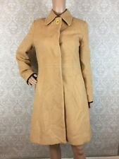 Coach Leatherware Camel Hair Coat Sz Small S Leather Trim