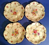 Set Of Four JLMenau Graf Von Henneberg 6 3/4 Inch Plates - HP & Numbered Germany