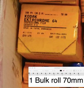 Bulk roll 70mmx100ft slide film - Kodak Ektachrome 64 EPR - Sealed E6 - FROZEN