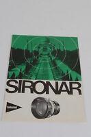 Rodenstock Sironar Objektiv Prospekt 1966 guter Zustand