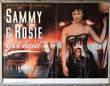 Cinema Poster: SAMMY & ROSIE GET LAID 1987 (Quad) Frances Barber Roland Gift